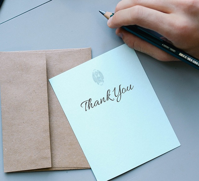 Show gratitude by saying thank you!